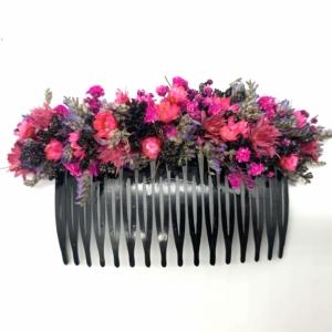 Trockenblumen Haarkamm